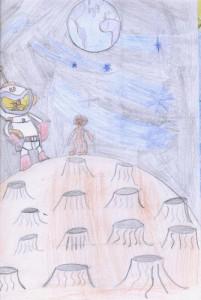 dessin de poesie le cosmonaute